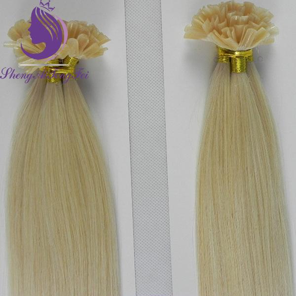 ブロンドのインドのRemyの毛Uの先端の毛の拡張(UT20)