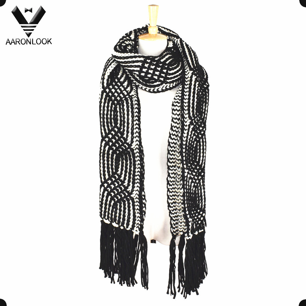 De la mujer ganchillo patrón Cable cálido invierno gruesa bufanda ...