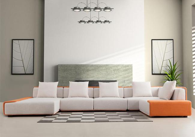 Foto De El Italiano Moderno Sofá De Tela De Muebles De Salón L6006