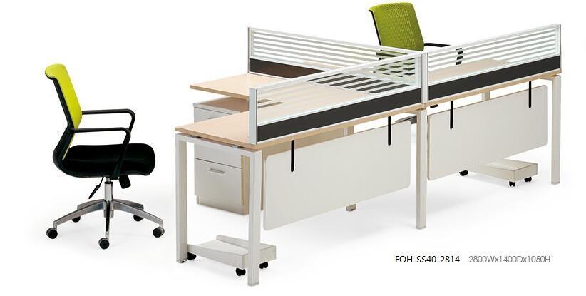 Station de travail de bureau moderne conception libre de meubles à