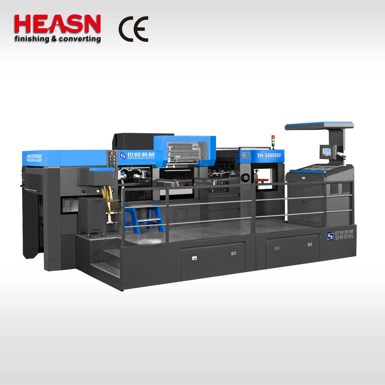 Sh-1060sef entièrement automatique Machine d'estampage à chaud