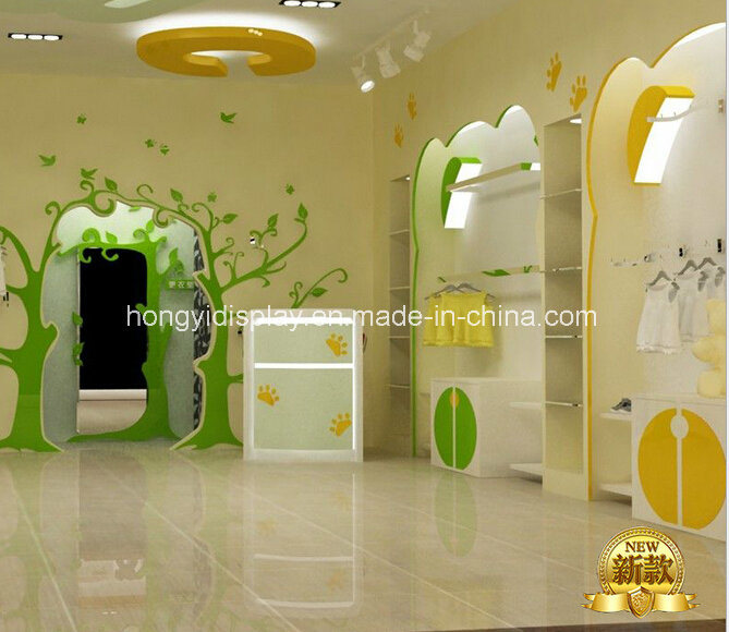 eea1e8aeb9dbe Une boutique de meubles d affichage pour le luxe de vêtements pour bébé  enfant