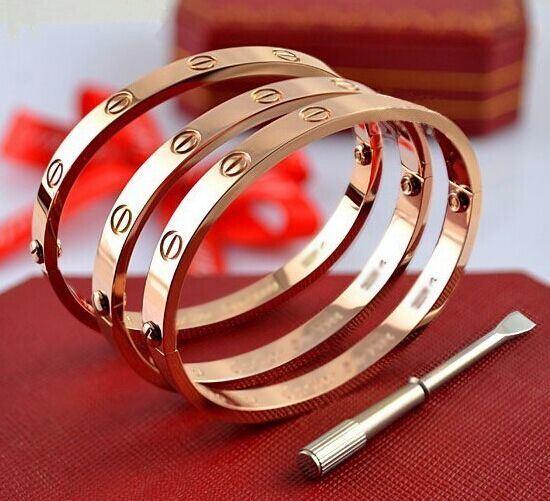 Het titanium nam de Gouden Armband van de Armband van de Liefde van de Schroef van de Juwelen van het Paar toe