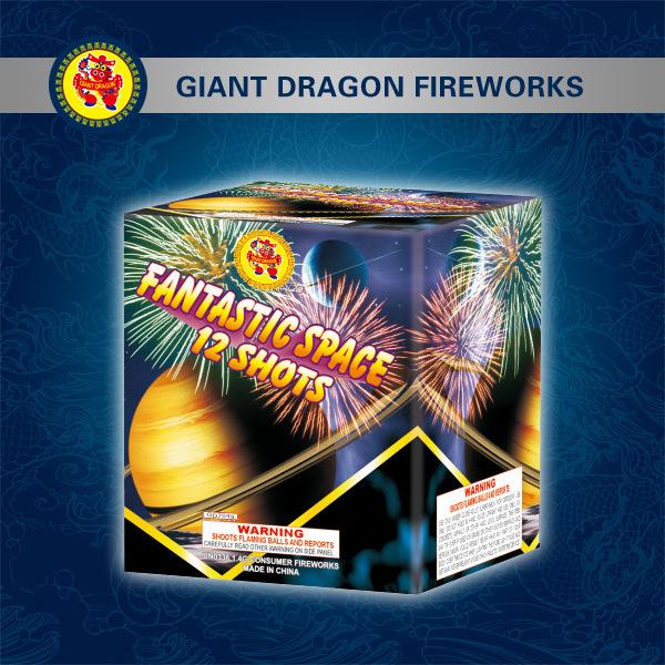 Écran professionnel gâteau Fireworks Fireworks 12 coups