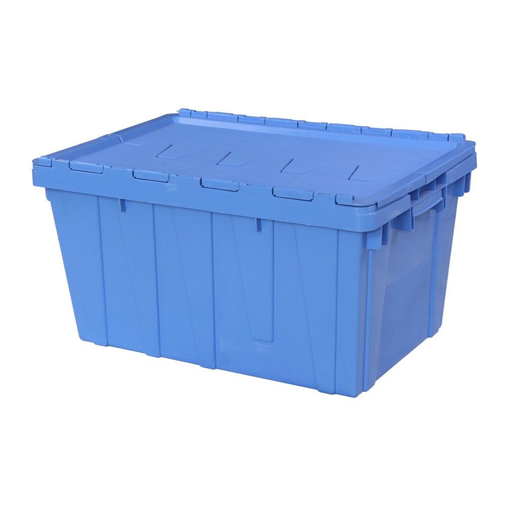 Scatola di stoccaggio in plastica impilabile Crate in plastica con coperchio In vendita