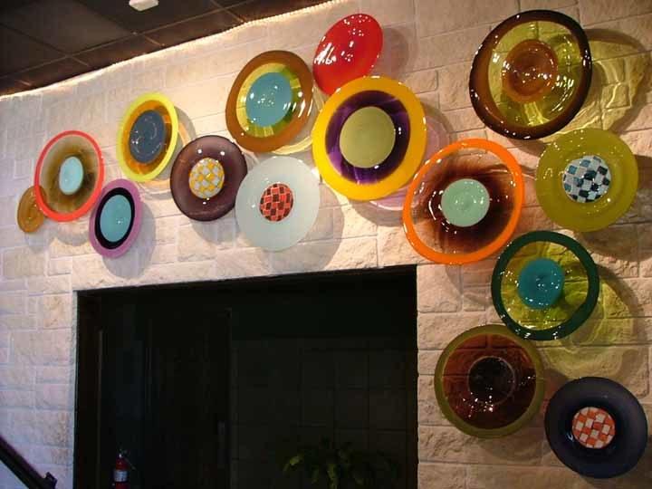 Foto de dise o de vidrio soplado placa luz de la - Platos decorativos pared ...