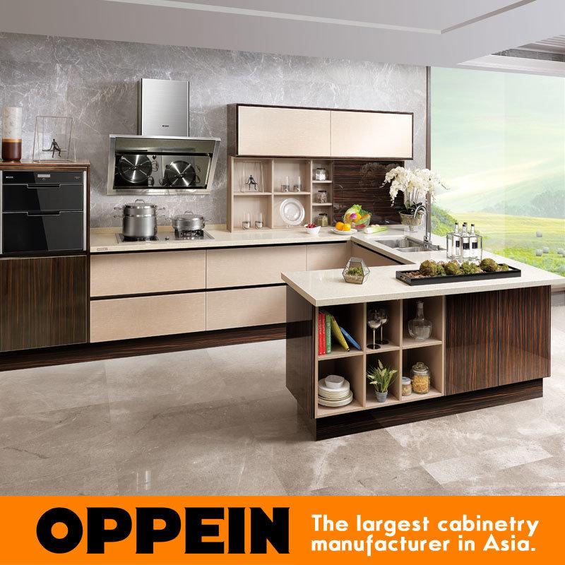Foto de Oppein Venta caliente laminado gris Muebles de cocina para ...