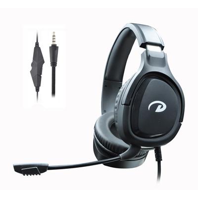 新しい私用PS 4およびXボックスヘッドホーンのためのマイクロフォンのコンピュータのイヤホーンが付いている賭博のヘッドセットによってワイヤーで縛られるヘッドホーン