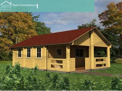 Pequena sala de lazer Villa de madeira (HT-F-004)