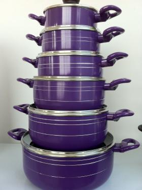 비 6 조각 지팡이 알루미늄 소스 팬