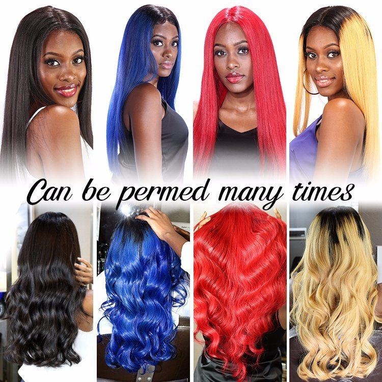 100% vierge de l'homme cheveux perruques colorées fournisseur droites Full Lace Wig/Lace Front Wig