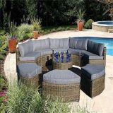 Popular Aluminum Frame Rattan Wicker Garden Sofa Set
