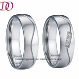 Unique Brushed D Ring Men Wedding Ring Women Jewelry