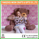 Shiny Brown Plush Bear 160cm Tall Giant Teddy Bear