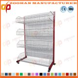 Wire Mesh Supermarket Display Shelf Wall Shelving with Basket (Zhs39)