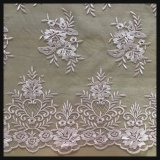 Delicate Floral Embroidery Lace Fabric for Lady Dress