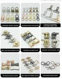 DIY Handmade Luggage/ Handbag/ Leather Bag Accessories Golden Metal Rotating Hand Hook Handle Hardware
