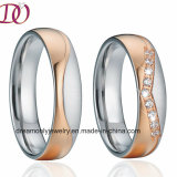 CZ Zircon Stainless Steel Wedding Band Jewelry Ring