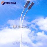 Durable Double-Arm Aluminum Street Light Pole with Wind Resistance
