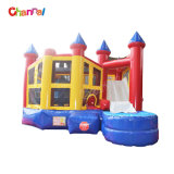 Multi Play Cheap Kids Inflatable Bouncy Castle with Water Slide