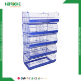 Customized Wire Mesh Basket Rack Trolley for Supermarket