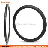 7-Tiger Bike 50mm Road Carbon Bicycle Rim 700c Tubular Clincher U Shape