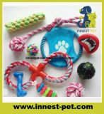 Factory-Direct Multi-Colors Pet Products Supply Plush Cotton-Rope-Ball Dumbbell Dog Toy