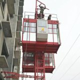 2ton Chinese Construction Lifter Hoist Elevator Sc200 Double Cages Brand New Cargo Lift