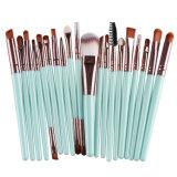 Best Seller 20 PCS Blue Pink Makeup Brush Set Tools Make-up Toiletry Kit Wool Make up Brush Set