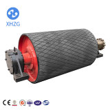 Heavy Industrial Rubber Lagging Belt Conveyor Pulley