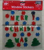 Christmas Glitter Window Jelly Decoration/Gel Stickers