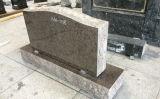Brown Granite Upright Marker Monuments Traditional American Headstones Serp Top Die Cemetery Memorials Cemetery Grave Markers Wholesale Granite