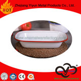 OEM&ODM Hot Sale High Quality Enamel Kitchenware Oblong Pie Dish for Daily Use