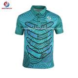 Wholesale New Zealand Dry Fit Golf Shirts Custom Sublimated Polo Shirts