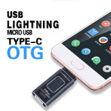 4 in 1 OTG Pen Drive Metal USB Flash Drive for Ios/Android/Tablet PC/Type C Micro USB Stick Flash Drive16GB 32GB 64GB