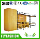Modern Strong Metal School Bunk Bed with Cabinets (ST-13)