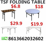 Dining Camp Plastic Rectangle Hotel Banquet PVC Outdoor Folding Table