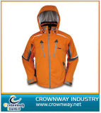 Orange Padded Ski Jacket with Hoody