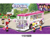 Hot Sale Puzzle Toy Plastic Toy Schoolbus Toy Car (1101609)