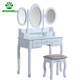 MDF Dressing Table with 3 Fold Mirror Set (W-HY-002)