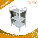 Custom 3 Tiers Stackable Steel Metal Retail Floor Shelving Display Stand in Salon