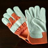 Good Quality Safety Working Single Palm Cow Split Leather Gloves