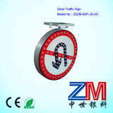 Aluminum Solar-Powered Traffic Sign / LED Flashing Road Sign for Prohibition