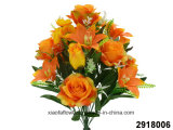 Artificial/Plastic/Silk Flower Rose/Lily Mixed Bush (2918006)