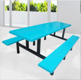 Customize Mess Hall Fiberglass Reinforced Plastic Dining Table and Chair