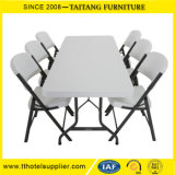 Popular Outdoor Plastic Folding Rectangular HDPE Table