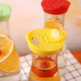1L Sample Beverage Juice Glass Bottle with Colorful Plastic Lid