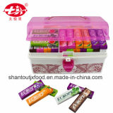 Red Rectangular Plastic Storage Box Chewing Gum
