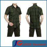 Business Casual Plaid Short Sleeve Shirt for Men (JS9028m)