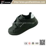 High Quality Black & Leather Chlirldren Skate Shoes Qr16045